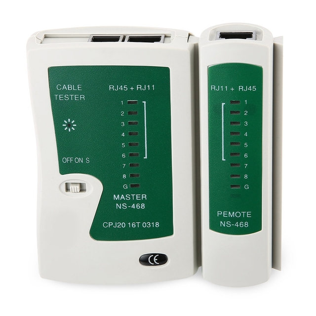 Zeadow Network Cable Tester LAN RJ45 RJ11 N21CL Cat5 Ethernet Line Tool Internet Broadband Connection Speed Capability Test