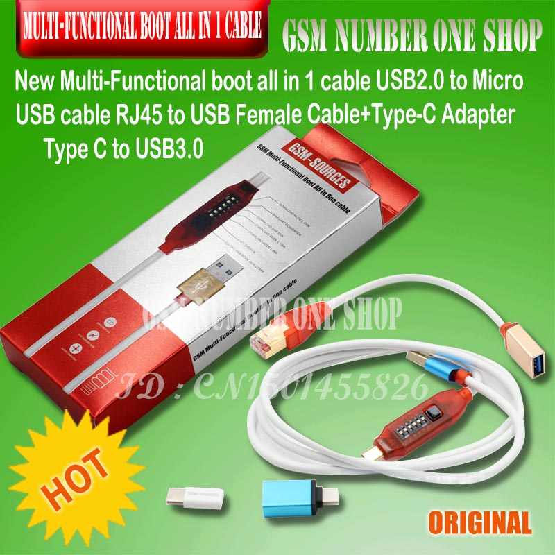 Micro USB RJ45 Multifunction boot all in 1 cable for Qualcomm EDL