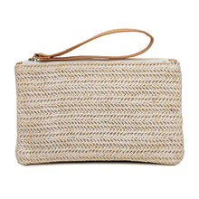 Women Straw HandBag Portable Travel Bohemian Clutch Packet Summer Beach Weaving Hand Pouch Casual Female Shoulder Bag(China)