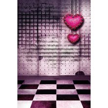 Vinyl Photography Background Red Hearts Valentines Day Backdrops For Photo Studio ZH 2