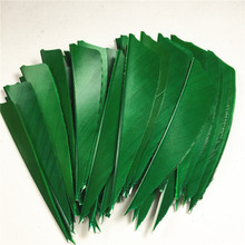 50pcs High Quality 3inch Feath Shield Cut Vanes Turkey Feather Colour Green Arrow Real Feather Arrow Feathers Vanes Bow Arrow 50pcs high quality 3inch feath shield cut vanes turkey feather violet arrow real feather arrow feathers vanes bow arrow