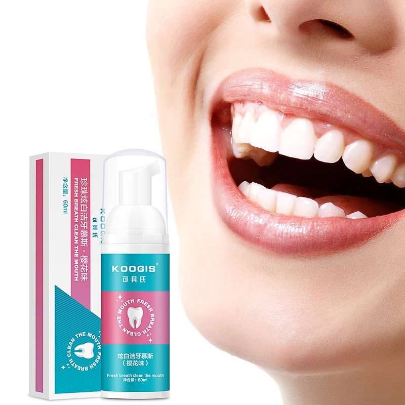 New 60ml Toothpaste Whitening Foam Natural Mouth Wash Water Teeth Whitening Toothpaste Liquid Oral Hygiene Toothpaste Beauty