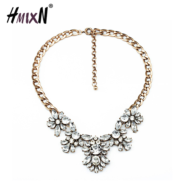 Vintage crystal white flower necklaces pendants statement necklace vintage crystal white flower necklaces pendants statement necklace chain necklace collar fashion jewelry hot for mightylinksfo