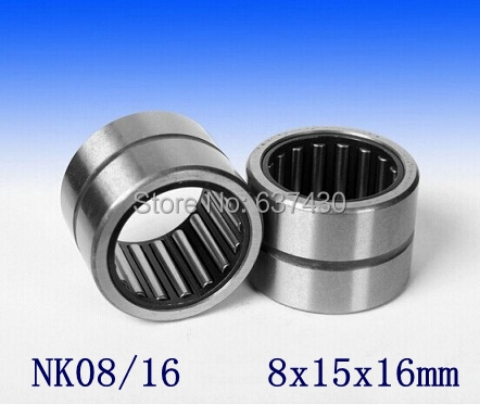 50pcs/lot  NK08/16  NK8/16  Miniature Needle Bearing Without Inner Ring  NK0816   8x15x16 Mm