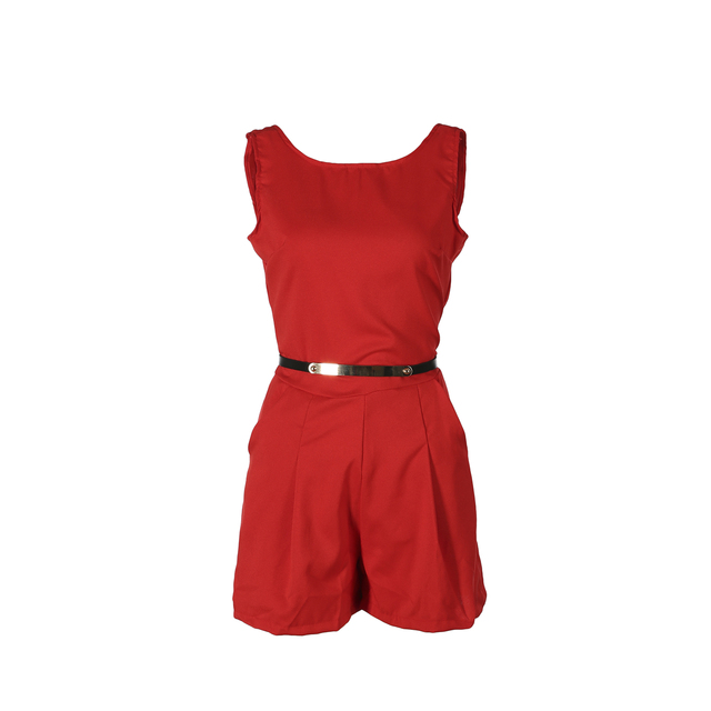 Casual Solid Playsuit Overalls For Women Rompers Ladies Summer Backless Bodycon Combines Female Party Overalls Women's Clothing 5