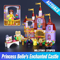 New 379pcs 10565 37001 The Princess Bell`s Enchanted Castle Beauty and The Beast Building Blocks Bricks Girls Toy Figures 41067