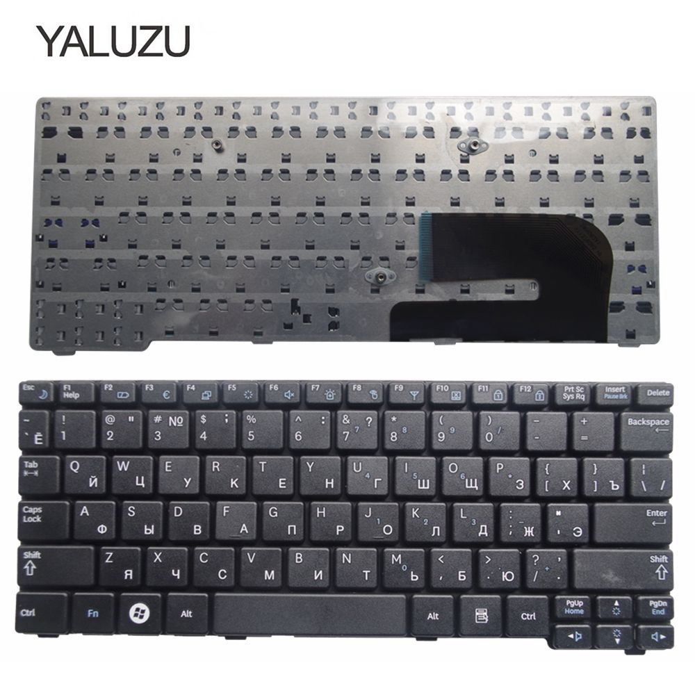 YALUZU NEW russian keyboard for Samsung N150 plus N143 N145 N148 N158 NB30 NB20 N102 N102S Laptop Keyboard black RU layout new new russian keyboard for samsung 300e7a 305e7a np300e7a np305e7a np300 e7a black ru laptop keyboard