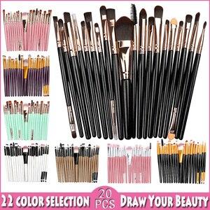 20PCS Makeup Brushes Sets Foun
