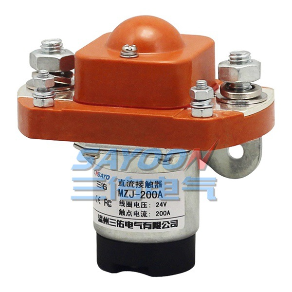цена на SAYOON 200A DC contactor MZJ-200A, DC 6V contactor, used for electric vehicles, engineering machin