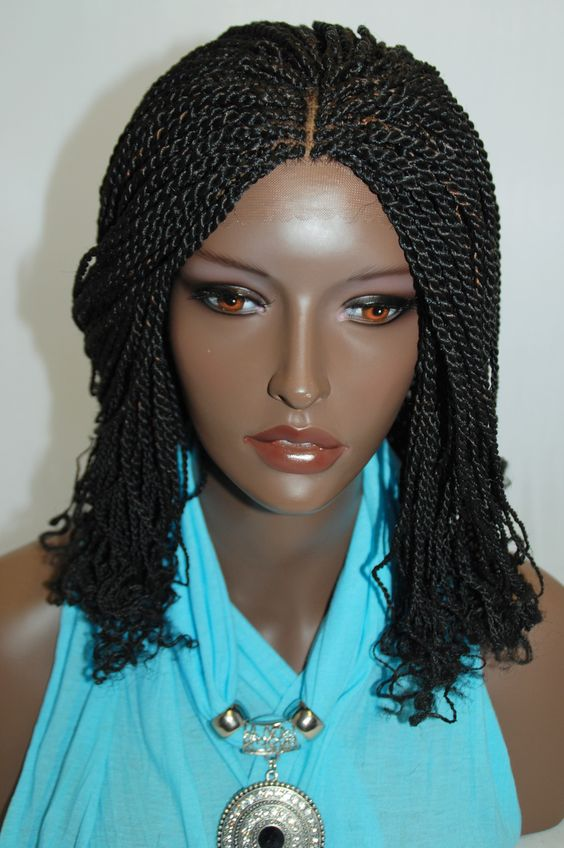 front hair braid styles new style twist braided lace front wigs 7932