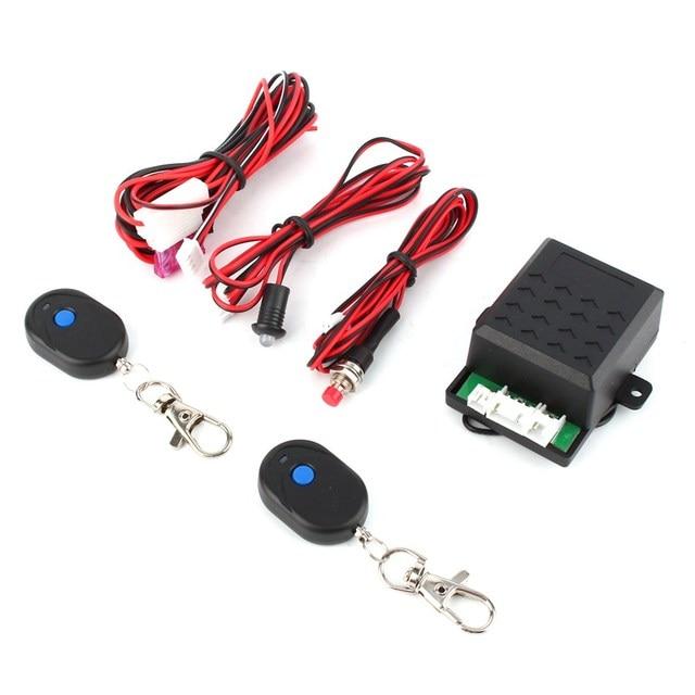12 V Auto Imobilizador Alarme Do Carro Anti Roubo Sistema + 2 Controle Remoto Universal de Alta Segurança