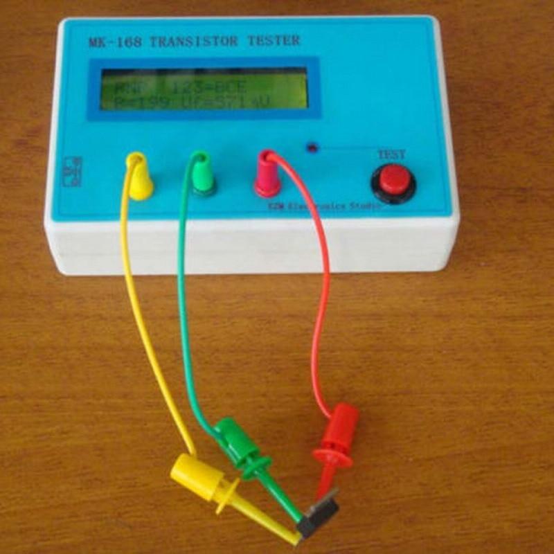 Transistor Tester Diode Triode Capacitance ESR resistance Meter MOS PNP NPN Tester Digital Electrical  Diagnostic-Tool VEG95 P50  lcr esr meter mega328 digital combo transistor tester diode triode inductor capacitance resistor mos pnp npn test clip
