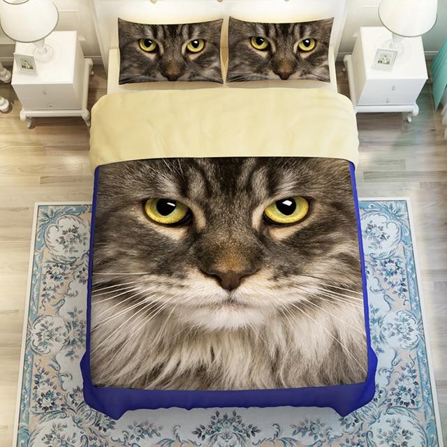 3D Oil Cat Bedding Sets34pc duvet cover without filler