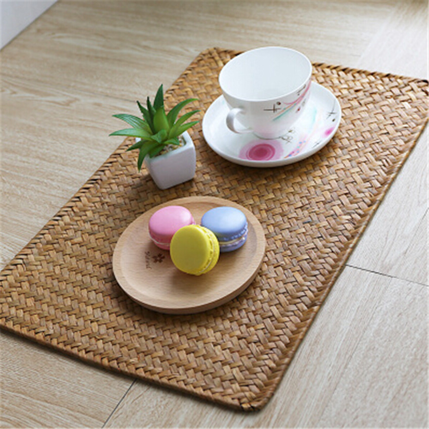 2pcs Lot Straw Past Bowl Mats Coaster Table Placemats Plate Dining Tea Kitchen Bars Restaurant Pads In From Home Garden On