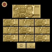 WR Festival Art Ornament Gold Banknote 24k 999 Gold Foil Currency Paper Money Quality Art Crafts Worth Collection Original Size