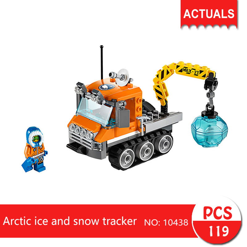 Lepin bela 10438 119Pcs City series Arctic ice and snow tracker Model Building Blocks Set  Bricks Toys For Children Gift 60034 bela 10439 compatible lepin city arctic helicrane building blocks policeman figure toys for children girls