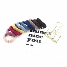 10PCS Elastic Hair Band Colorful Geometric Patterns Ties Girl Scrunchy Rubber Bands Accessories fashion Headdress