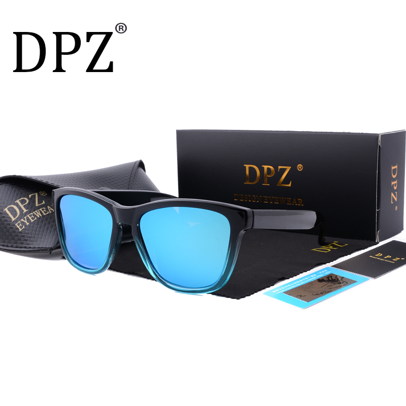 2018 DPZ New Fashion Polarized Women Sunglasses men Famous Lady Brand Designer Gradient Colors Coating Mirror Sun Glasses UV400