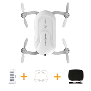 ZEROTECH Dobby Pocket Selfie Drone FPV With 4K HD Camera GPS Mini RC Quadcopter with Handbag Backpack and Protection Cover jjrc h37 elfie rc quadcopter foldable pocket selfie drone with camera