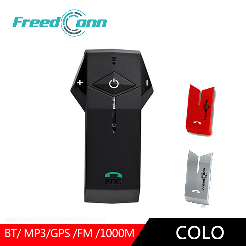 FreedConn Moto Casque Interphone casque bluetooth 1000 M GPS NFC Moto Interphone écouteurs mains-libres Casque Remplacer Shell