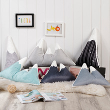 Yamagata pude sofa Pude Børns legetøj pude Nordic Style Snow Mountain mønster Pude Plush bomuld Lumbar pude