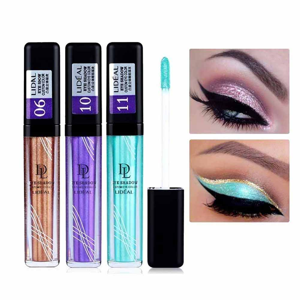 Metallic Eyeshadow Waterproof Glitter Pigment Stage Makeup Liquid Eye Shadow