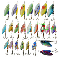 24 spinner super new fishing lure pike salmon bass T7 Free Fisher