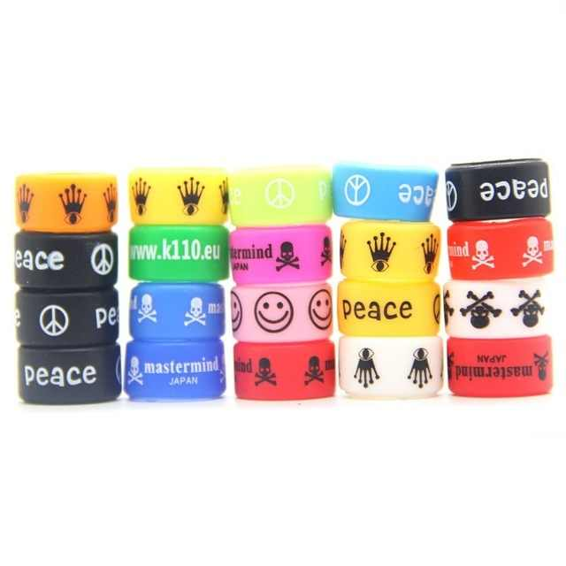 4pcs/10pcs Silicon Band Rings ecig rubber vape band silicone rings 18mm Inner Diameter for ecigs mech mod rda