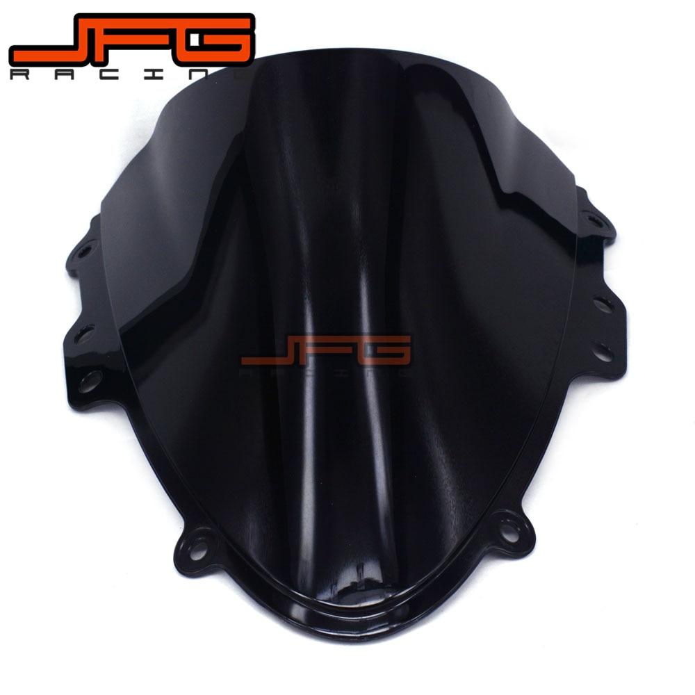 Black Windscreen Windshield for Suzuki GSXR600 GSXR750 GSXR 600 750 K4 04 05 lowest price fairing kit for suzuki gsxr 600 750 k4 2004 2005 blue black fairings set gsxr600 gsxr750 04 05 eg12