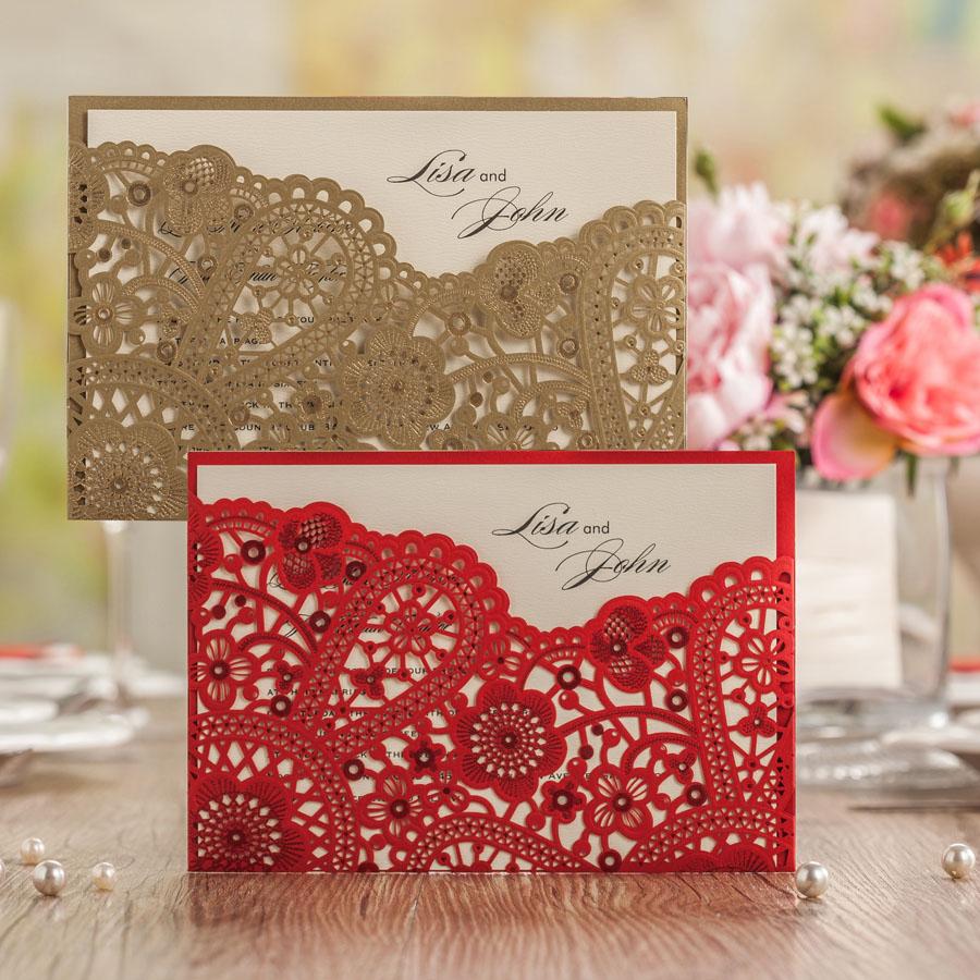 Aliexpress.com : Buy Laser Cutting Elegant Wedding Invitation cards ...