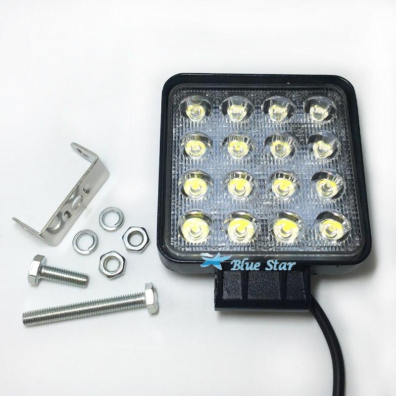 Prix pour 2 Pcs 4.2 Pouce 48 W 12 V 24 V LED Light Work Spot/D'inondation Ronde LED Offroad Lumière Lampe Lampe de Travail pour Hors route ATV Moto De Voiture camion