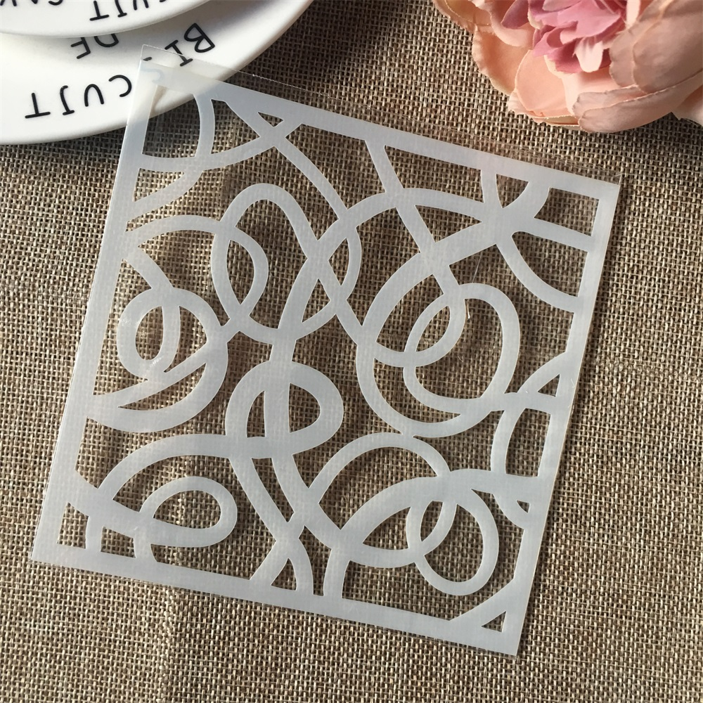 Hot 13cm Floral DIY Craft Layering Stencils Wall Painting Scrapbooking Stamping Embossing Album Card Template