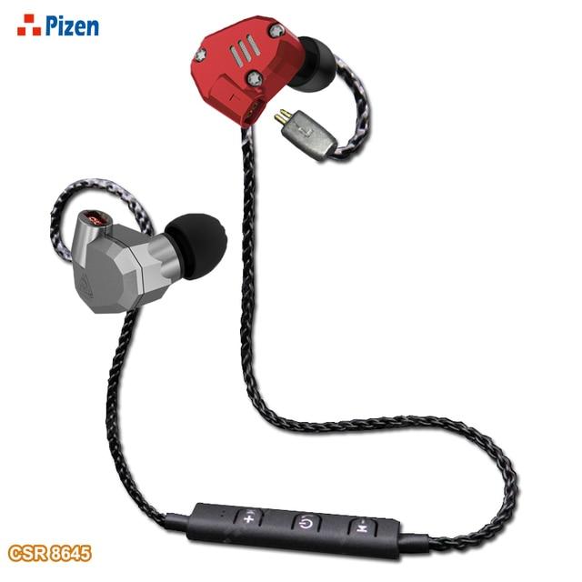 PIZEN BT66 CSR8645 Поддержка беспроводной HDMI Bluetooth кабель MMCX для shure SE535 QKZ TRN V10 APT-X обновления кабель для senfer dt6