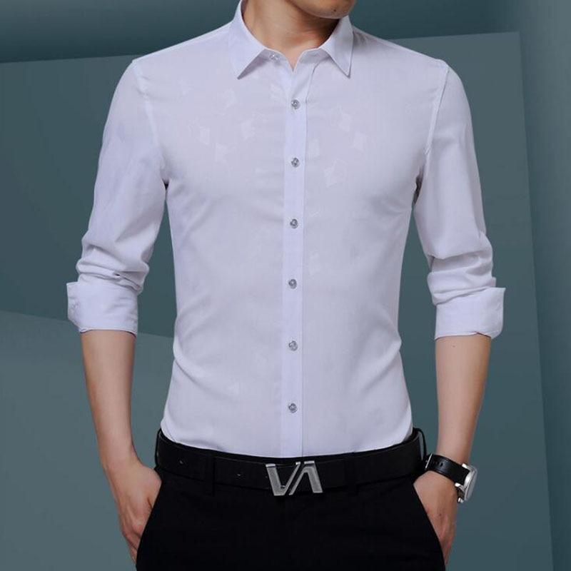 Lüks Artı Boyutu Erkek Gömlek 2017 Sonbahar Gelgit Flora Baskı - Erkek Giyim - Fotoğraf 5
