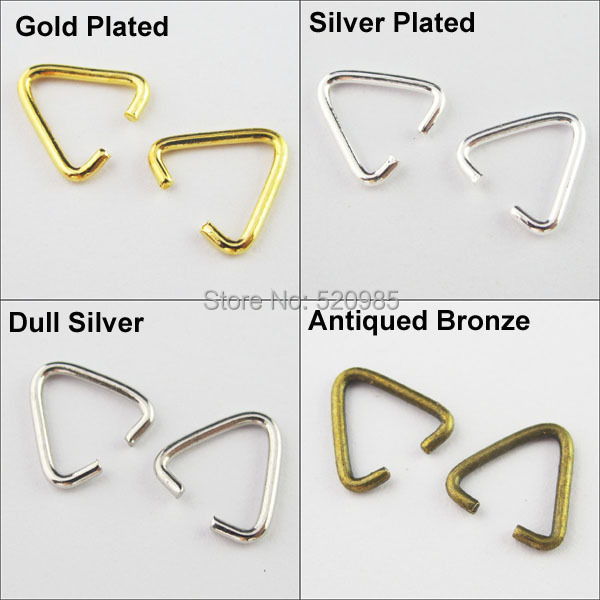 Wholesale NEW DIY dull silver Jump Rings Open Connectors Jewelry Making