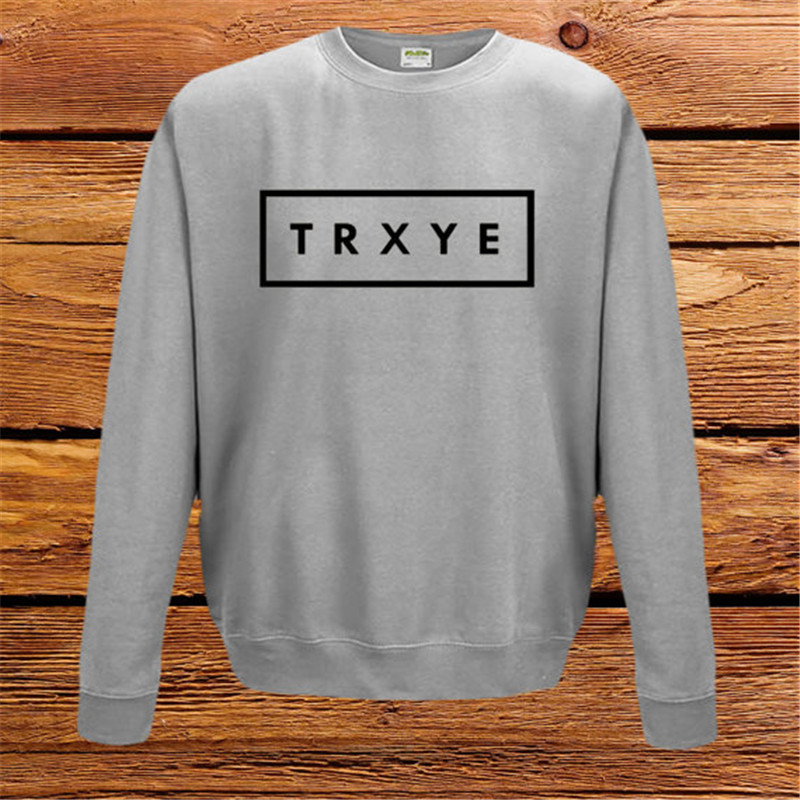 Men&Women TRXYE Letter Print Sweatshirt Hoodies Casual High Fashion Pullovers 2016 Long Sleeve Brand Moletom W-F50079