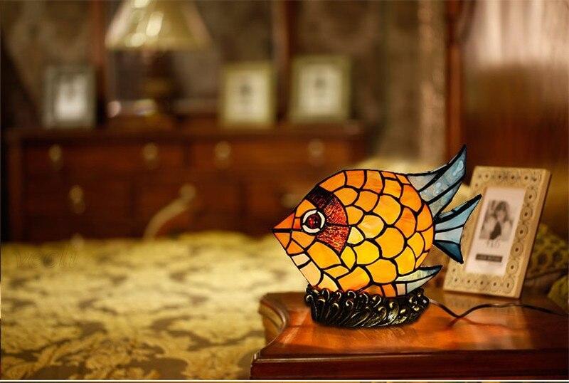 Novidade criativo bebê projetor vitrais pequeno peixe