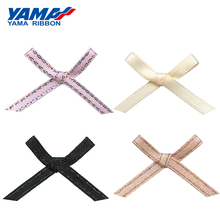 YAMA Wide 32mm±3mm High 20mm±3mm Hand-Tied Bow 200pcs/bag Gold Silver Satin Taffeta Purl Ribbon for Diy Gift Wedding Decoration