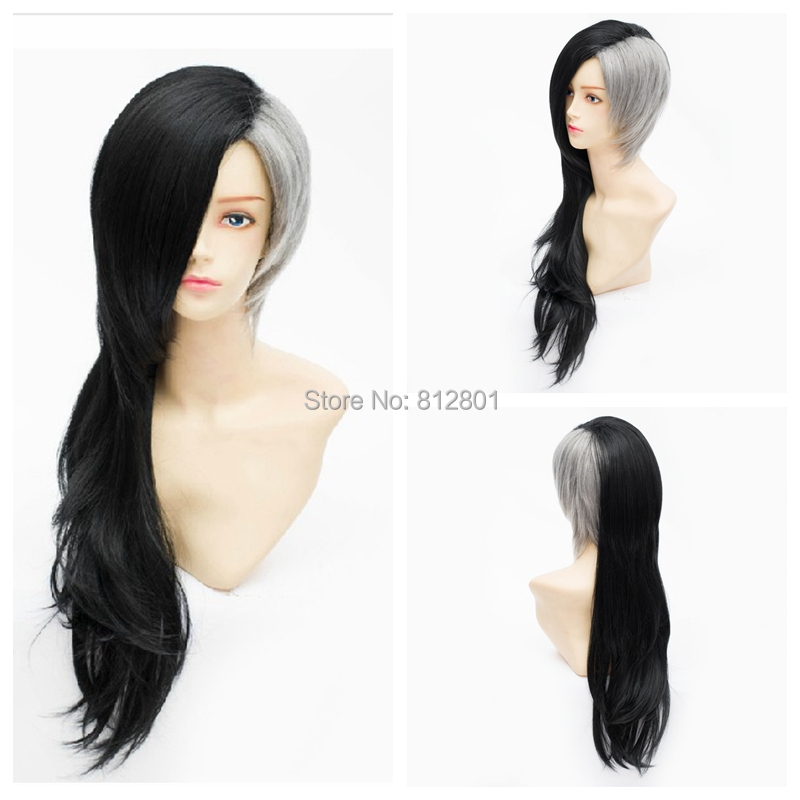 MCOSER Special Hairstyle Black Grey Mixed Tokyo Ghoul Mask Maker Uta Fashion Party Cosplay Wig - Lacos wig store