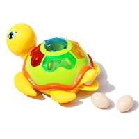 Fun Toys Will Make A Small Turtle Electric Toy Universal Turn Light Music Children's Toys Baby Crawling Toys Anti-stress Toy