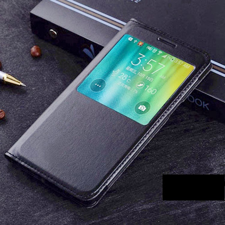 Slim Leather Flip Cover Smart View <font><b>Case</b></font> Auto Sleep Wake up Phone Sleeve Bag Fundas Coque For Samsung Galaxy A5 A500 / A7 <font><b>A700</b></font> image