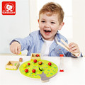 Kid's Soft Montessori Wooden Apple Picking Blocks Toy Set With Hourglass & Apple Tree WD234