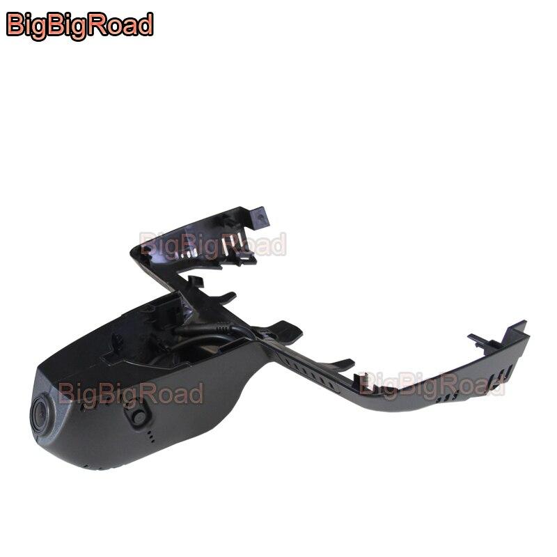 BigBigRoad voiture wifi DVR enregistreur vidéo Installation cachée dashcam pour BMW X3 2018 FHD 1080 P grand Angle
