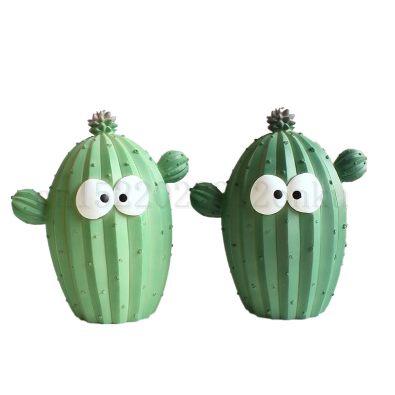 Piggy Bank Money Boxes Resin Cactus Shaped Kid Coin Bank Home Decor Ornament
