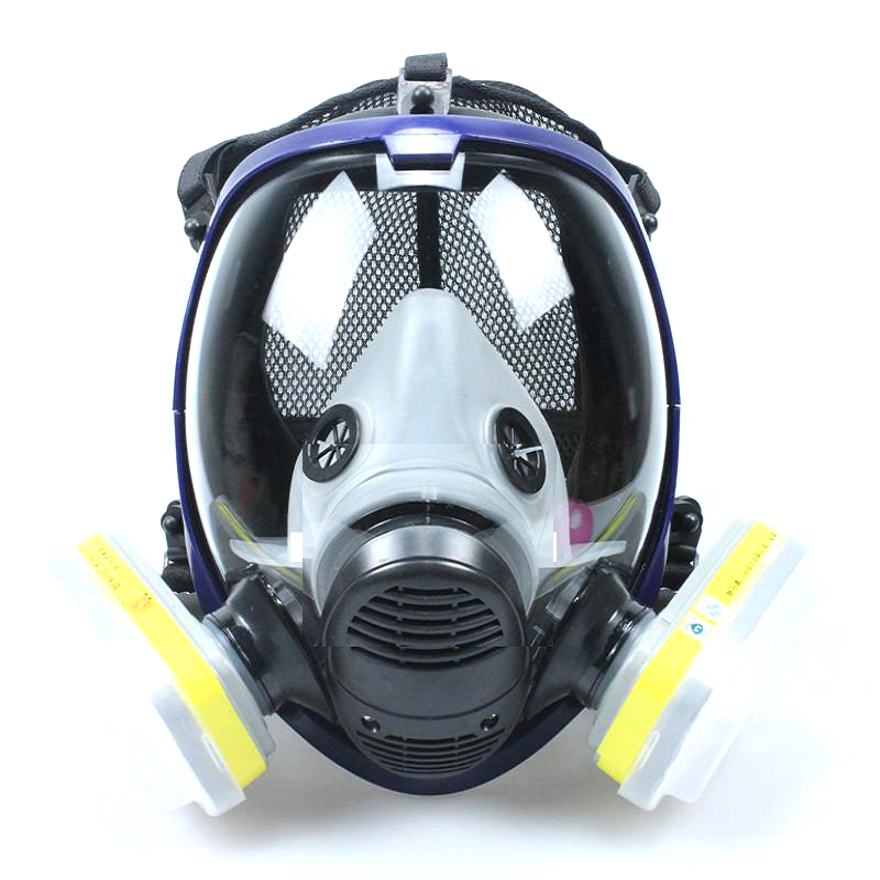 6800 Full Face Respirator Mask Set Anti Dust Mask Air Circulator Anti-fog Chemicals Paint Mask For Spraying/Pesticide/Laboratory
