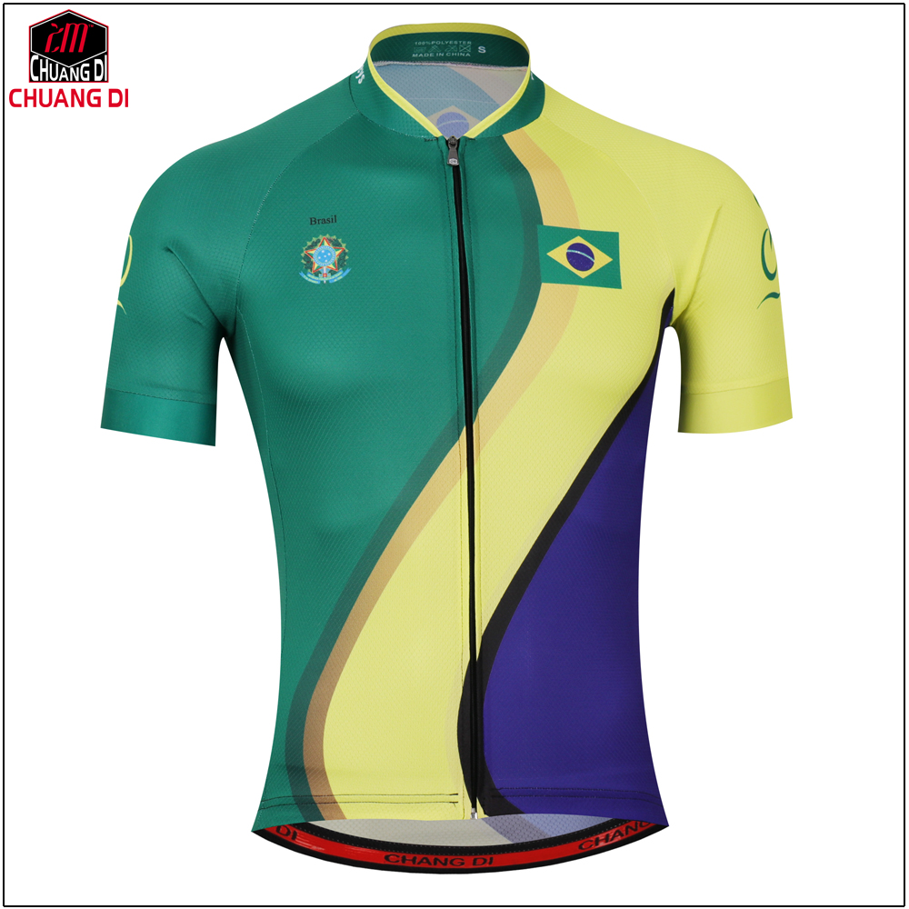64758f2715 2017 longao Brazil Men Womens Cycling Jersey Set Ropa De Camisa Ciclismo  Short Sleeve Bike Clothing Sport Jerseys Cycling Set-in Cycling Sets from  Sports ...