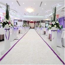 HIgh Quality White Themed Plush Fabric Wedding Carpet Aisle Runner For Party Decoration Supplies 10 Meter Per Lot
