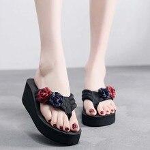 Летние женские модные сандалии; нескользящие сандалии с бантом на толстой подошве; тапочки на платформе; chaussure femme Y