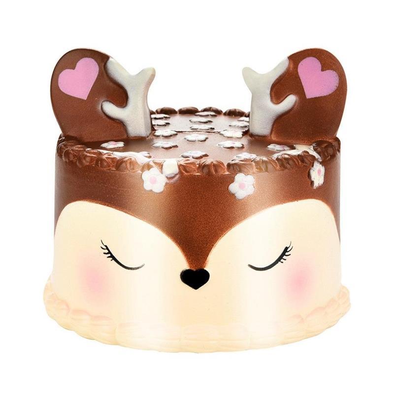 18 más lento levantamiento Squishies Jumbo 11 cm Kawaii sueño Elk Deer Cake perfumado Squishy encanto Slow Rising Kid Toy decoración del hogar regalo