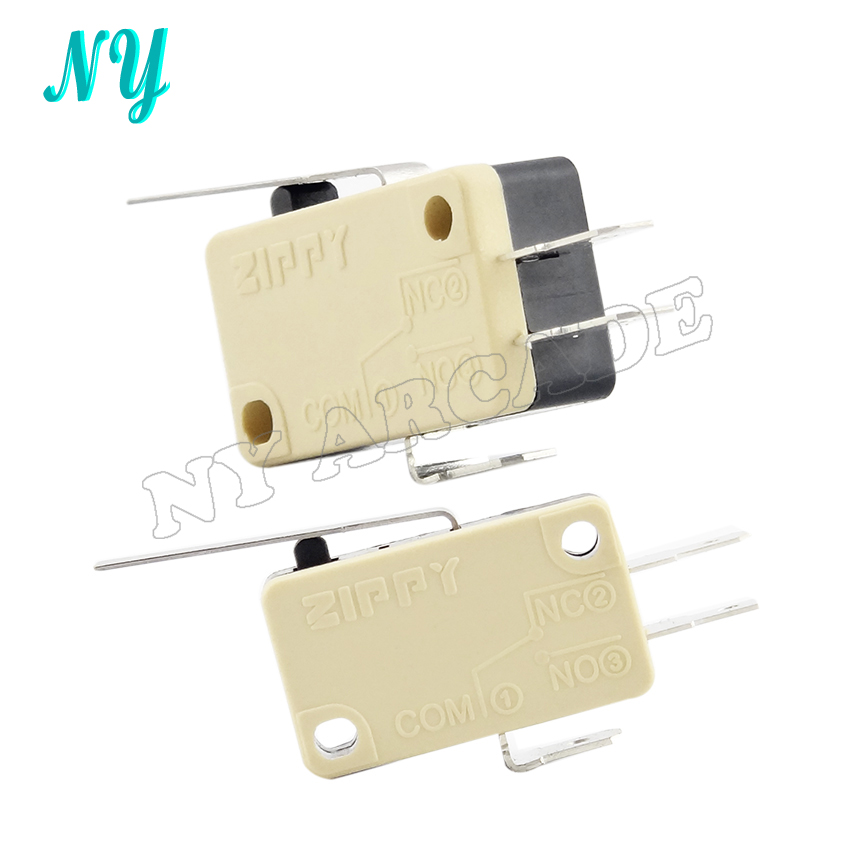 10pcs/lot High Quality ZIPPY Microswitch Micro Switch For Arcade Joystick 3 Terminals For Acade Game Machine/Accessories/Parts